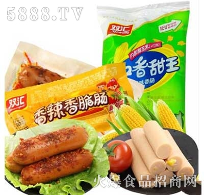 双汇火腿肠润口香甜玉米30gx9支+香辣香脆肠