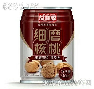 益和源细磨核桃245ml罐装