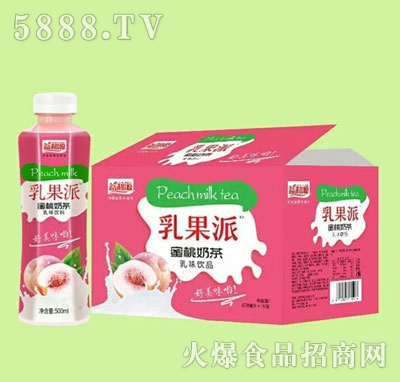 益和源乳果派蜜桃奶茶饮品500mlx15瓶