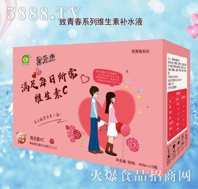 果爱康致青春系列荔枝饮料460mlx15瓶