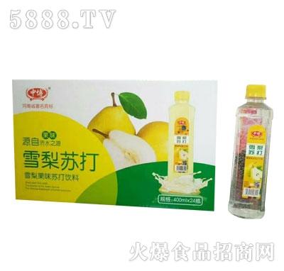 中博雪梨苏打果味饮料400mlX24