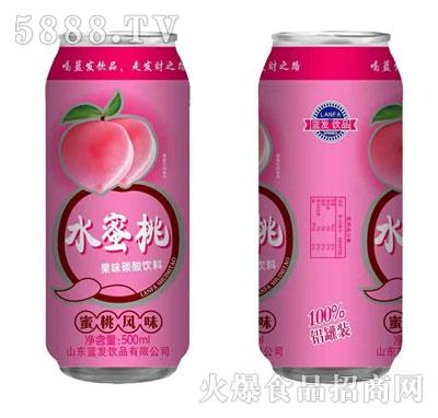 蓝发饮品水蜜桃果味碳酸饮料500ml