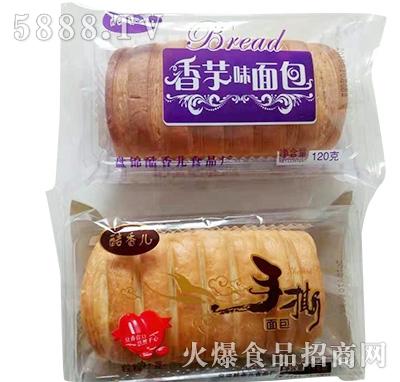 酷香儿香芋味、手撕面包120克