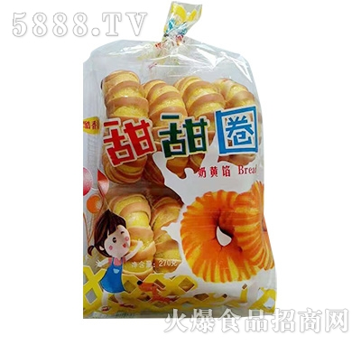 酷香儿甜甜圈面包奶黄馅270克