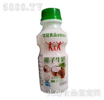 优冠椰子牛奶原味含乳饮料340ml