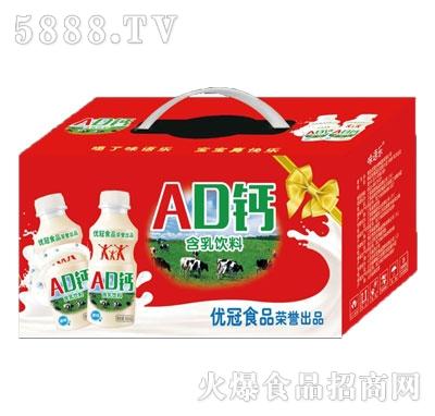 优冠AD钙原味含乳饮料340ml箱装