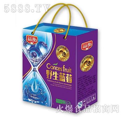 益衡野生蓝莓果味饮料488mlx6盒