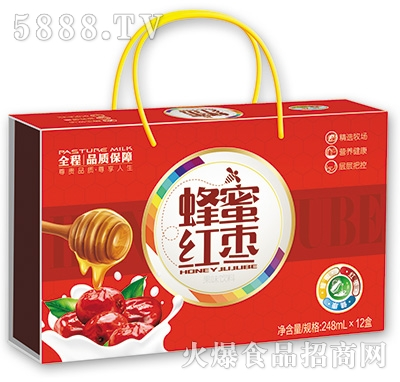 蜂蜜红枣果味饮料248mlx12盒
