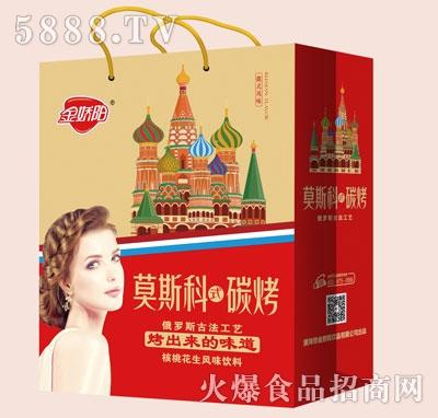 金骄阳莫斯科碳烤核桃花生风味饮料(袋)