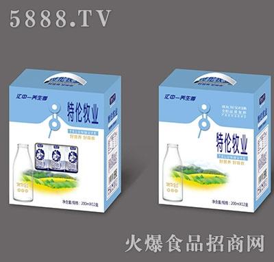 江中养生季特伦牧业饮品200mlx12盒