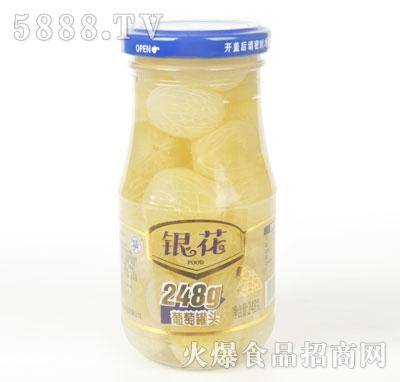 银花葡萄罐头248克