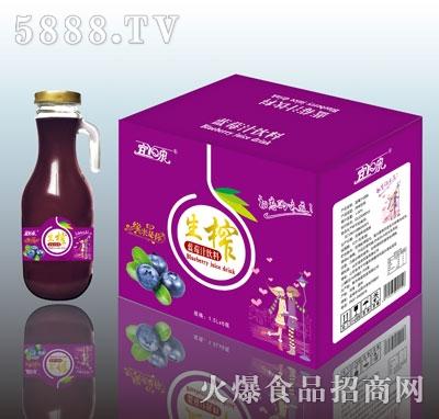宜泉生榨蓝莓汁1.5LX6