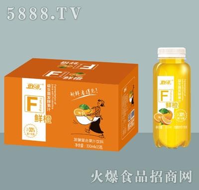 宜泉发酵复合鲜橙果汁饮料330mlX15