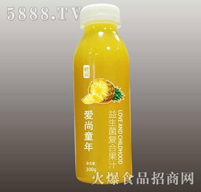 颖润益生菌复合菠萝汁300g