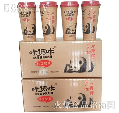 咔诺咔红豆奶茶110gx20杯
