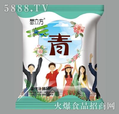 梦立方蜜汁牛排风味方便面(青)产品图