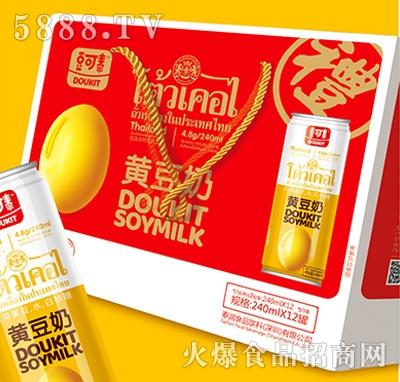 豆可泰黄豆奶240mlx12罐手提装