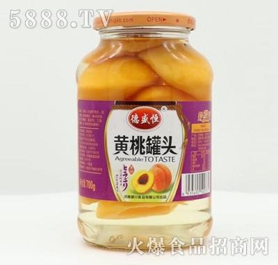 德盛恒黄桃罐头700g产品图