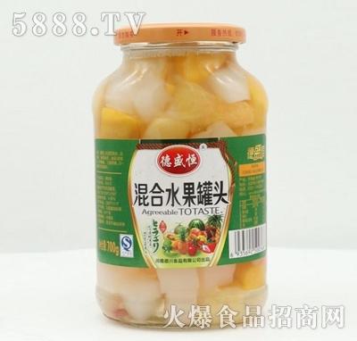 德盛恒混合水果罐头700g