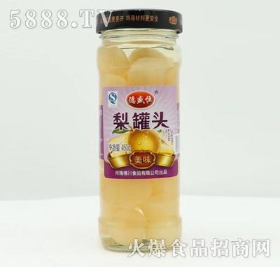 德盛恒梨罐头450g产品图