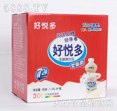 好悦多原味乳酸菌饮品1.25Lx6瓶箱装产品图
