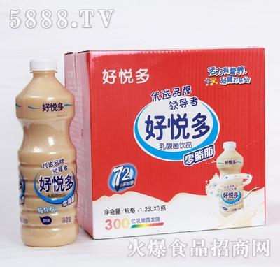 好悦多原味乳酸菌饮品1.25Lx6瓶产品图