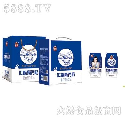尊仕中老年低脂高钙奶200mlx12盒