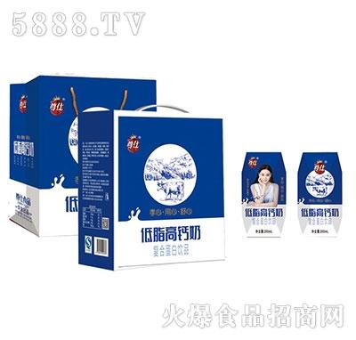 尊仕低脂高钙奶200mlx12盒产品图