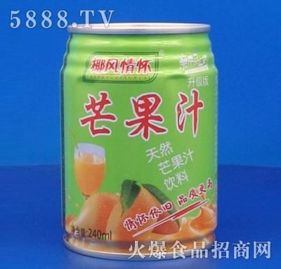 椰风情怀芒果汁240ml
