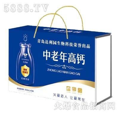 青岛达利园中老年高钙乳味饮品250mlx12盒
