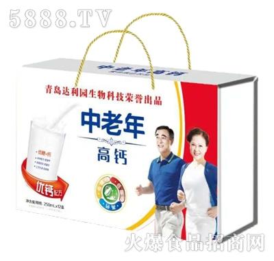 青岛达利园中老年高钙复合蛋白饮料250mlx12盒