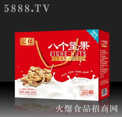 汇仁八个坚果复合蛋白饮品250mlx12盒红色手提装