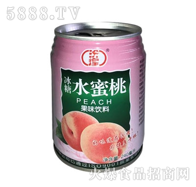 汾煌冰糖水蜜桃果味饮料240ml