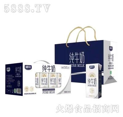植牧纯牛奶250mlX12盒装产品图