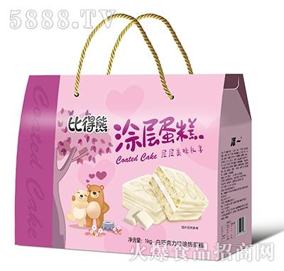 比得熊涂层蛋糕白巧克力味1kg礼盒