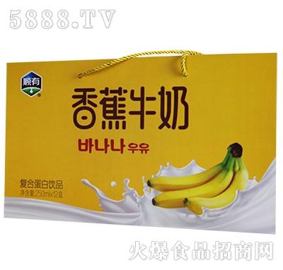 顺有香蕉牛奶250mlx12盒产品图