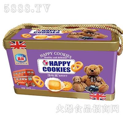 盖能馋味熊曲奇饼干1.08千克盒