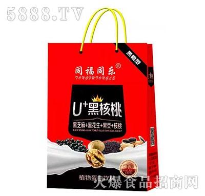 同福同乐U+黑核桃植物蛋白饮料礼盒