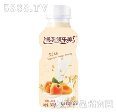 食刻悠乐美黄桃+燕麦乳酸菌风味饮品340ml