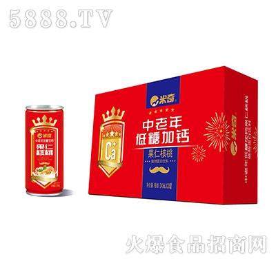 米奇中老年低糖加钙果仁核桃植物蛋白饮料240ml×20罐