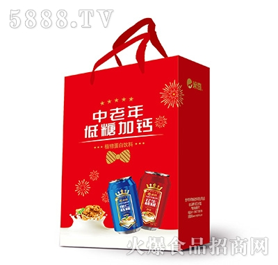 米奇中老年低糖加钙手提袋310ml×16罐