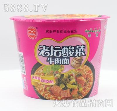 翔波老坛酸菜牛肉面(桶)