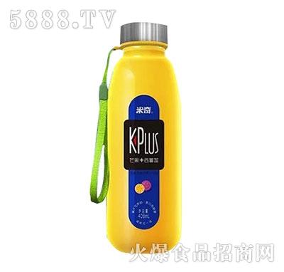 米奇plus芒果西番莲复合果汁饮料408ml×12瓶