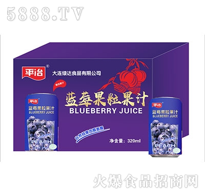 平冶蓝莓果粒果汁
