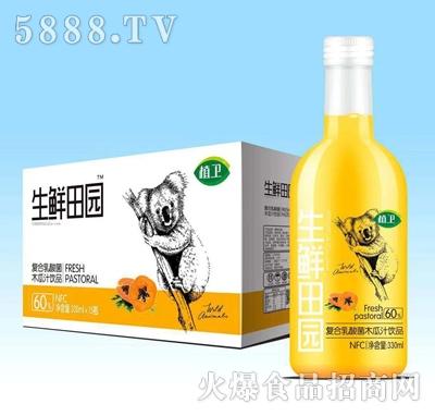 植卫生鲜田园复合乳酸菌木瓜饮料330mlx15瓶
