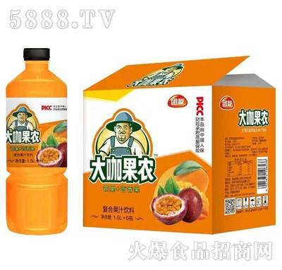 团友大咖果农芒果+百香果复合果汁饮料