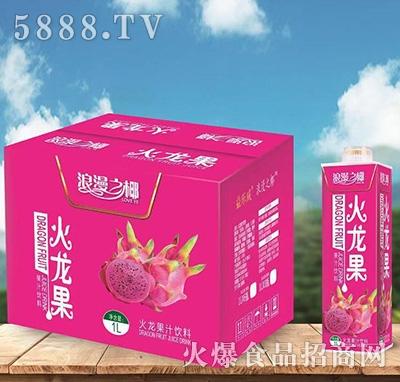浪漫之椰火龙果果汁饮料1L箱装