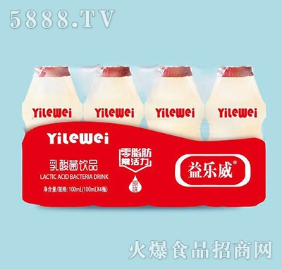 益乐威乳酸菌饮品100mlx4瓶产品图