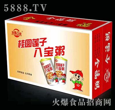 全福八宝桂圆莲子八宝粥礼盒装320mlx12罐