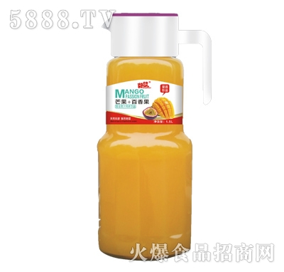 好梦芒果+百香果复合果汁风味饮品1.5L